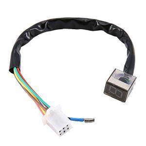 Indicateur de vitesse numérique LED universel durable Affichage de moto Capteur de changement de vitesse Capteur Pièces de rechange – Noir