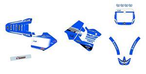 KIT Deco Motocross Yamaha YZ 250 Classique Origine Bleu 1993-1995 + 4 MINIS PLAQUES OFFERTES …