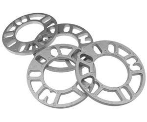 KOKO Zhu 4X 10 mm – Entretoises de Roue Cales Plate 4 PC en Alliage d'aluminium pour Universal Autocar