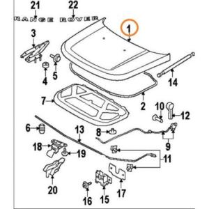 Land Rover – capot Range Sport