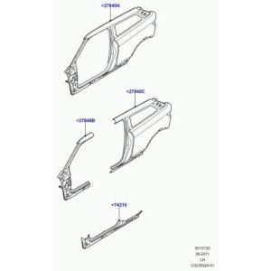 Land Rover – panneau exterieur aile arrière Evoque