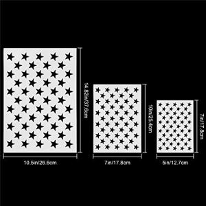LLDHWX 7PCS DIY American Elements Map -Pet matériel Qui est sûr et Non Toxique Pentagramme Hollow Wall Painting Spray Paint Template