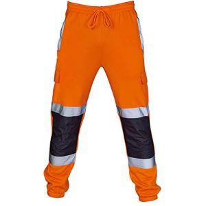 LMMVP Manteau De Sécurité Vêtements et Pantalons Gilets de sécurité réfléchissants Fluo pour la des conducteurs Automobiles Travailleurs et Travailleurs avec Un Risque,Veste Imperméable Rainsuit