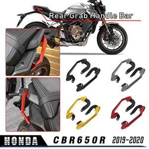 LoraBaber Moto Siège Pillion Passager Poignée Arrière Poignée Barre pour Honda CB650R CB 650R 2019 2020 Poignée Rail Accoudoirs (Noir)