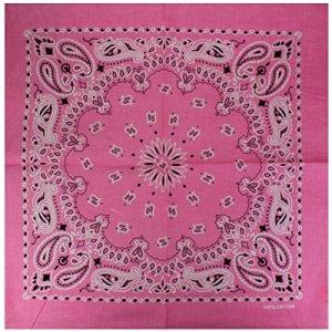 Lot 12 Bandana avec Motif Paisley exclusif rose