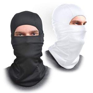 [Lot de 2] Cagoule Masque Tissu élastique–One Size Fits All–Protège du vent, du soleil, DE LA poussière,–Idéal pour moto, Masque visage pour ski, cyclisme, course à pied ou randonnée–L'été ou l'hiver Gear