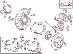 MB SLK R170 A001420508364 Étrier de frein arrière gauche
