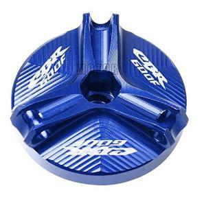 Moto CNC en aluminium de remplissage d'huile Bouchon de remplissage for fiche de Coupe d'huile moteur for Honda CBR600 F / F2 / F3 / F4 / F4i 1991-2007 (Color : Bleu)