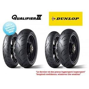 Pack de 4 pneus hypersport dunlop qualifier ii (2x 120/70… – Dunlop 5740030003