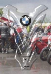 Protection Du Réservoir Adhésifs Résine 3D Carbone Protection Réservoir Compatible avec BMW – Transparent