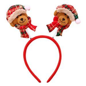 Rameng Serre-têtes Noël Bandeau Cerceau de cheveux de Noël Enfant Adulte Déguisement Cosplay (Rouge)