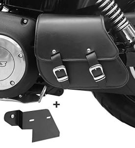 Sacoche Bras oscillant + Support pour Harley Dyna Fat Bob 08-17