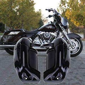 Samger Noir Bas Ventilé Leg Carénages Boîte à Gants en Plastique ABS pour Harley Touring FLHR FLHT Road King Street Glide 1983-2012 (peint)