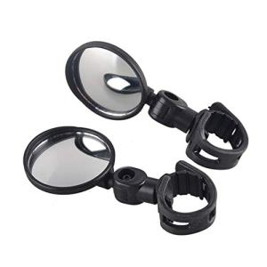 Small Round Rearview Mirror For Mountain Bike And Silicone Handle