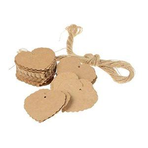 Snow-Day Étiquettes en Forme De Coeur – Étiquettes en Papier Kraft Rétro pour Décorations De Fêtes De Mariage