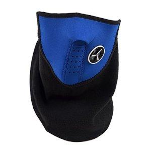 TOOGOO(R) Masque de Visage Cou Chaud pour Sport Velo Moto Ski – Bleu