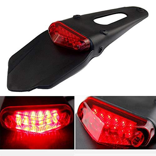 vitihipsy garde-boue arrière de moto a mené la lumière de queue de frein avec le support pour le frein de moto
