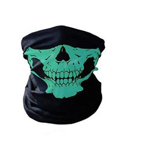 Waymeduo Masque de protection tubulaire en polyester Motif tête de mort