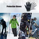 Xnuoyo Caoutchouc Hard Knuckle Doigt Complet et Demi Doigt Gants Gants de Protection Écran Tactile Gants pour Moto Vélo Chasse Escalade Camping (noir, L)