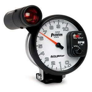 Auto Meter 7599 Phantom II 5 10000 RPM Shift-Lite Tachometer by Auto Meter