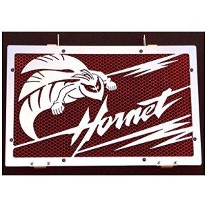 cache radiateur / grille de radiateur Honda CB 600 F Hornet «Frelon» 2007>14 + grillage rouge