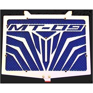 cache radiateur / grille de radiateur Yamaha MT 09, Tracer, Sport Tracker «Logo» + grillage bleu