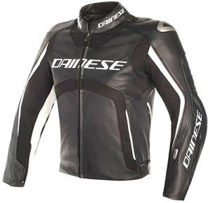 Dainese Veste Moto Misano D-Air Veste en Cuir Noir/Blanc 52, Unisexe, Sportler, Toute l'année