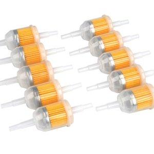 FOCCTS 10 Pcs Filtre à Carburant Universel Carburant Rapide de Filtre à Essence de 6 mm, 8 mm, machines pour filtrer l'essence, modèle: 131-261-275