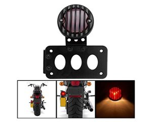FuriAuto Vertical universel Support latéral horizontal Support plaque immatriculation Moto Tail Light