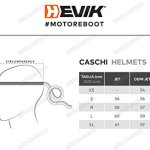 HEVIK Casque Demi-Jet, Multicolore, M