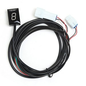 Indicateur de Vitesse étanche pour Moto Affichage LED Plug & Play pour Yamaha (LED Rouge)