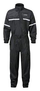 JDC Combinaisonde pluieintégrale pour moto – SHIELD – Black – S