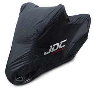 JDC Housse Moto 100% étanche – Ultimate Rain (Robuste, Doublure Souple, Panneaux résistants à la Chaleur, Coutures étanchéifiées) – M
