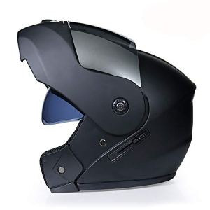 NBGT Moto Modulable Casque modulaire Doublure Amovible Casque Full Face Double Visor Bouclier Rabattable Casque intégral Casque Double visière Shield Rabattable Casque (S55cm ~ XL62cm),S