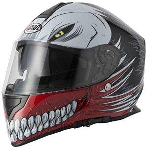 NEW style vcan V127creux Rouge Graphic Casque de moto moto scooter Crash Track rapide Sport visage complet et ACU Passe-montagne