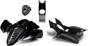 Pièce de rechange pour / compatible avec YAMAHA YFM 660 R Aile plastique Noir