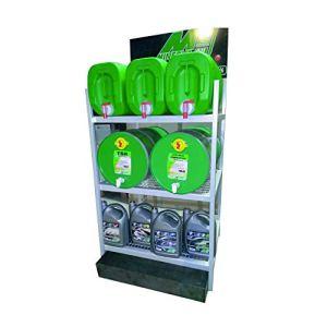 Presentoir Minerva Special Stockage bidons 5-25-60 litres 3 Niveaux avec bac de Recuperation