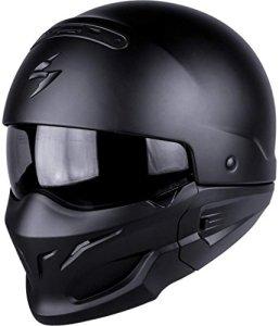 Scorpion Exo-combat Casque de moto, Noir mat, M
