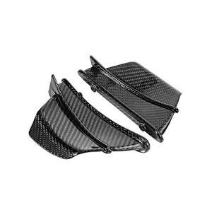 YUQINN Moto Pièces Nouvelle fibre de carbone moto Aérodynamique aile Kit fixe Winglet Wing Gloss Carénage for BMW Weave Twill S1000RR 2009-2018 S1000R (Color : Gloss)