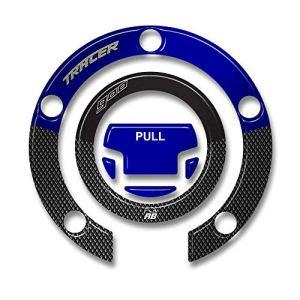 Adhésif 3D Protection Bouchon Compatible avec Yamaha Tracer 900 2019 Bleu