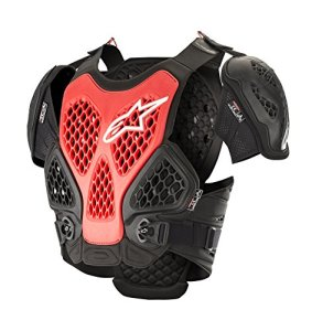 Alpinestars Protection Thoracique Mx Bionic Noir-Rouge (M/L, Noir)