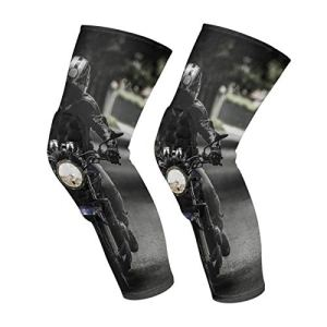 Biker Motorcycle Ride Vehicle Road Genou Manches Mollet Leg Support Compression Chaussettes Honeycomb Protector Gear
