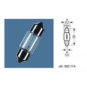 Boite 10 ampoules 12v-3w / navettes culot sv7-8 – Osram 320114