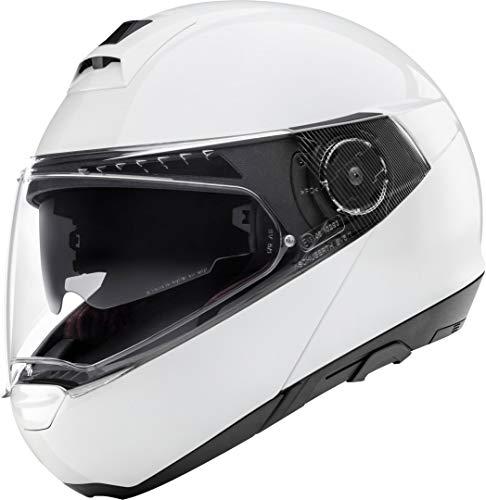 Casque de moto Schuberth C4 Pro brillant pour femmes, blanc brillant Taille XS