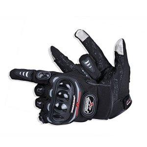 Madbike Gants de moto d'été mesh écran tactile transpirable (Large, black)