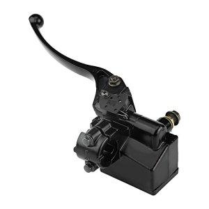 Maître-cylindre de Frein Avant, Keenso 7/8″22 mm Levier de Frein d'Embrayage de Frein Hydraulique de Moto (Black)