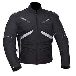 NORMAN Moto Cordura Hommes Veste Imperméable Textile Noir Ce Renforcé Noir – Noir, S