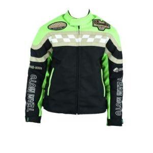 Veste-Blouson Enfant Moto (Vert et Noir) (8 Ans)