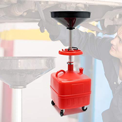 WilTec Chariot collecteur d'huile 35l Dispositif collecteur d'huile Chariot à Rouleaux collecteur d'huile