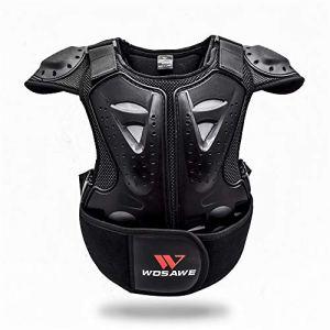 WOSAWE Veste de Protection de Moto Kid Réfléchissant Armure Gilet Motocross Armour Retour Support de Protection Vestes de Protection Garde Chemise pour Snowboard S